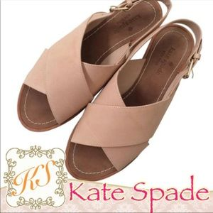 Kate Spade | Soft Pink Leather Flat Sandals